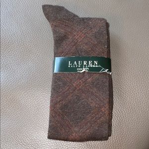 Ralph Lauren brown argyle socks (NWT)